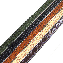 10mm Flat Leather Cord Caving Braided Bolo Leather Cord For Necklace Bracelet DIY Jewelry Craft Making 1meter