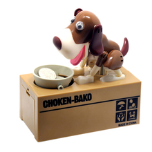 1PCS Large Dog Piggy Bank Money Box for Coins Wholesale Automatic Stole Saving Box Coin Boxes Dog Steal Money Piggy Bank(China)