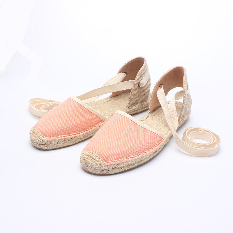 2017 New Arrival Classic Bowtie Canvas Espadrille Women Ballet Flats Elastic Band Straw Linen Shoes Stripe Gingham Zapatos Mujer<br><br>Aliexpress
