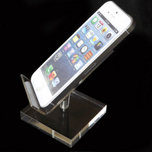Acrylic Mobile Cell Phone Display Stand Holder rotatable pallet tray shallow desktop showing display stand