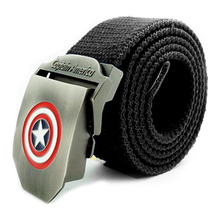 Buy Casual Women Men Canvas belt jeans belt Captain America buckle military Army tactical belts Solid Color for $5.70 in AliExpress store