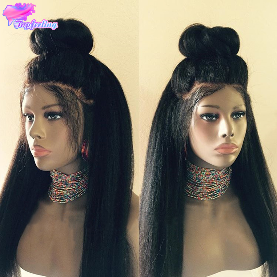7A Kinky Straight Full Lace Wig With Baby Hair Peruvian Full Lace Human Hair Wigs For Black Women Kinky Straight Lace Front Wig<br><br>Aliexpress