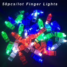 50Pcs / Lot LED Finger Lights Glowing Dazzle Colour Laser Emitting Lamps Wedding Celebration Festival Kid Birthday Party decor