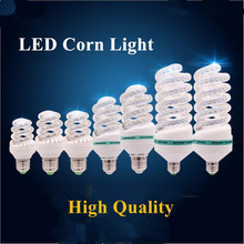 New Superbright LED Energy Saving Lamp E27 High Quality 3W 5W 7W 9W 16W 24W 32W Spiral/U Shape LED Corn Light Spotlight Lamp