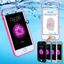 Fasion Candy Color Waterproof Case For iPhone SE 5 5S 6 6S 7 Plus Phone Cases Soft Silicone Rubber Shockproof Dustproof Cover(China)