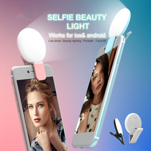 LED Photography Flash Light Up Selfie Luminous Lamp Night Phone Ring Contains batterie For iPhone 5 6 6S Plus for Samsung HTC