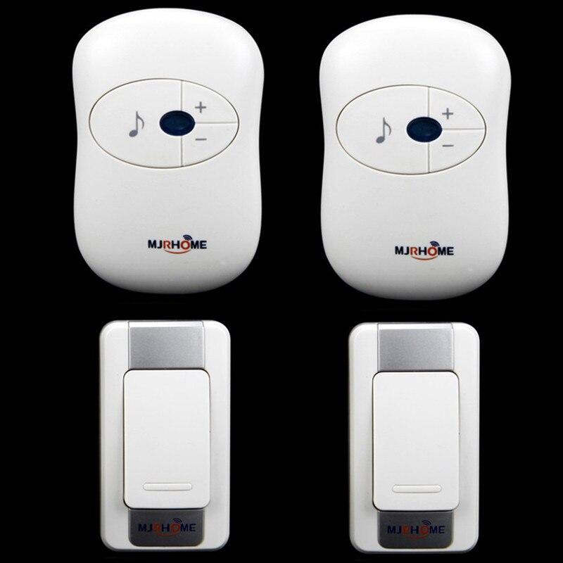 Wireless Doorbell Waterproof DC 300m remote control Door Bell Home digital use battery door ring 2 transmitters+2 receivers<br><br>Aliexpress