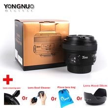 Yongnuo 35mm F2 F/2 1:2 Auto Focus Wide-Angle Prime Lens Suit For Nikon Camera Lens Cleaning Case Set Bag Cap 58mm Lens Hood