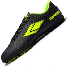 New Men's Boys Youth Soccer Indoor Cleats Shoes Lace Up TF Turf Football Trainers Low Top Soccer Sports Sneakers EU35--44