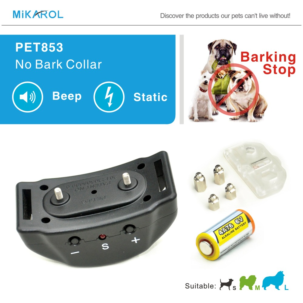 2015 Newest Automatic Anti Bark Collar Sound & Shock & Electric No Remote Needed Bark Control Dog Training Collar No Bark Collar(China)