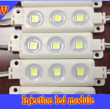 Retail led module injection SMD5050 3leds IP65 White/warm white DC12V advertising signs board display window +China post(China)