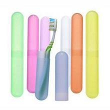 New 1 Pcs Protect Toothbrush Tube Cover Travel Hiking Camping Toothbrush Holder Case Box(China)
