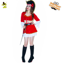 Adult's Fever Boutique Plentiful Pirate Costume Women's Fancy Dress Costumes For Party(China)