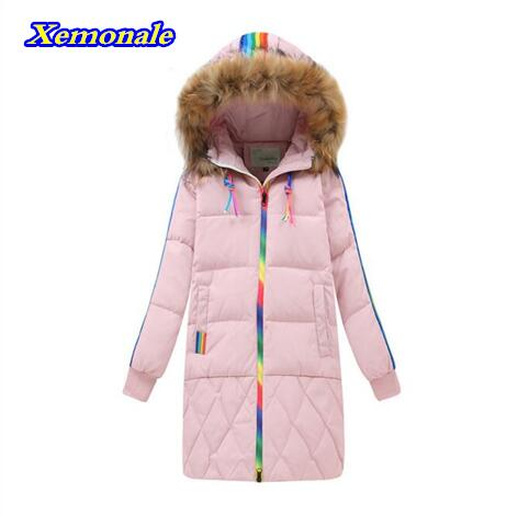 2017 Winter  Fashion Childrens Down Jackets/coat winter fur Big boy Coat thick duck Down feather jacket Outerwear cold winter-4<br>