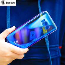 BASEUS For Samsung Galaxy S8 / S8 Plus Case Glaze Gradual Color Changing PC Mobile Casing for Samsung Galaxy S8 Plus G955 - Blue