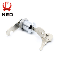 30PCS NED103-25 Cam Cylinder Locks Door Cabinet Mailbox Drawer Cupboard With Iron Keys Home Locks 25mm Length Furniture Hardware(China)