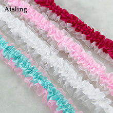 Aisling 4cm Wide Stretch Lace Ribbon DIY Handmade Accessories Craft & Gift Packing Child Dress Decoration D342(China)