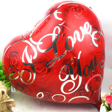 I love you Rose Foil balloon lovers heart balloons Helium Balloon Party Decoration Ball(China)