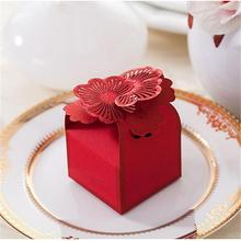 Casamento 1pcs Cut Flower Wedding Candy Box Paper Wedding invitation Gifts For Guests Sweet Box Wedding Souvenir Supplies