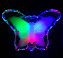 Butterfly Night Bed Side Light Lamp Wall lighing For Baby Kid Gift Color butterfly