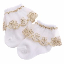 Christening Winter Warm Meias Para Bebe Cotton Baby Girl Socks,Kids Ruffled Meias Infantil Knitted Knee Lace Baby Socks Newborn(China)