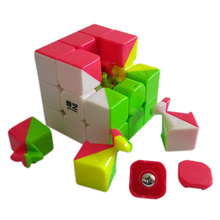 Qi Yi Cube 3x3x3 Warrior Boys Magic Cube Puzzle Cubes Speed Cubo Square Puzzle Without Stickers Educational Gifts Toys for kid.(China)