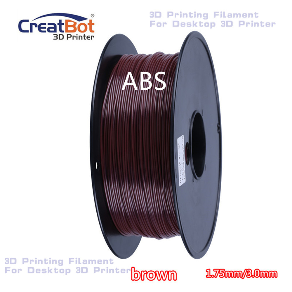 ABS 1.75mm / 3.00mm High Quality plastic 3D printing filament  CreatBot Manufacture for Desktop FDM 3d printer  Brown  1kg/ roll<br><br>Aliexpress