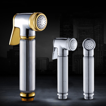 Solid Brass Handheld Toilet Bathroom Bidet Garden Faucet Head Spray Sprayer Chrome Finish Bidet Head Free Shipping 0223