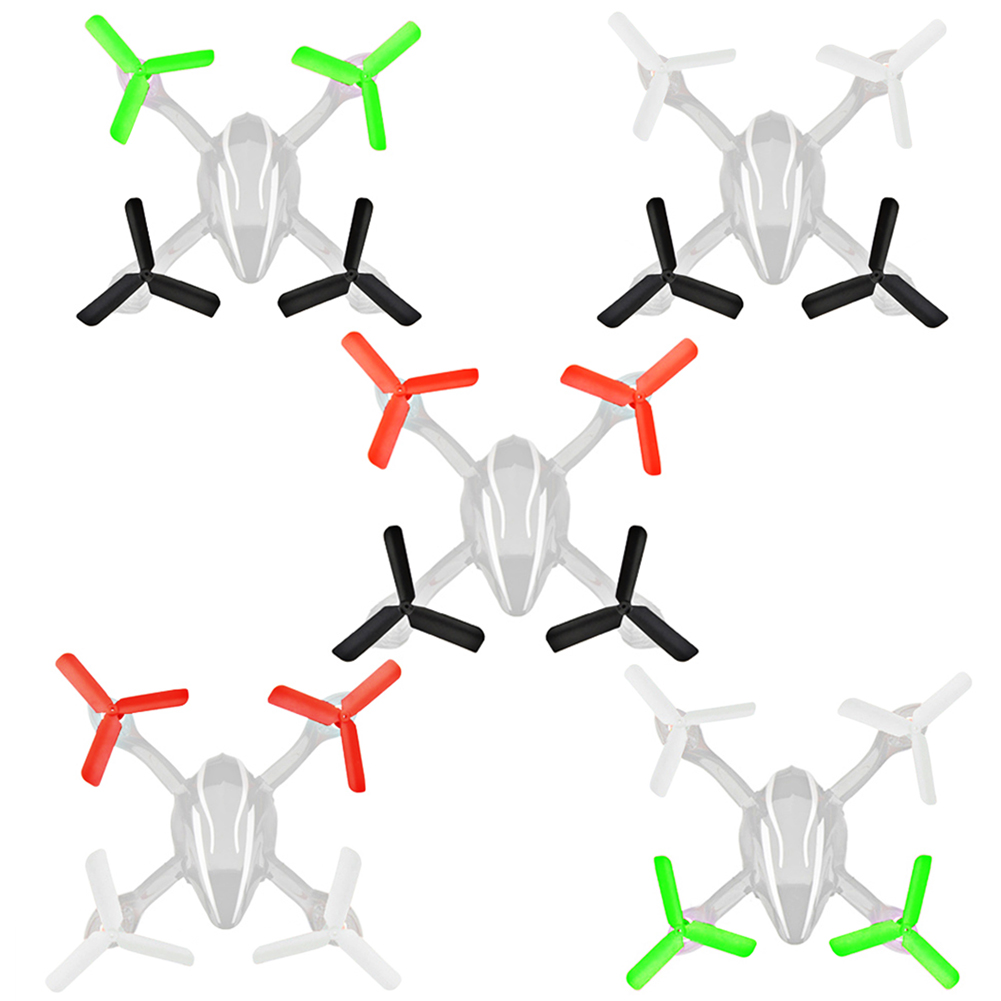 8pcs Upgrade Version 3-Blade Propeller for Hubsan H107L/C/D RC Quadcopter Helicopters 3 Blade Propeller FCI#<br><br>Aliexpress