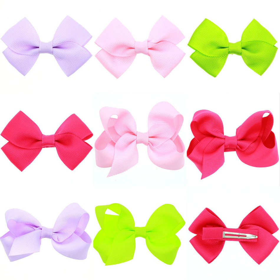 Cute baby Hair Decorate jewelry accessories Photography props Kids pure color bow Hairpin<br><br>Aliexpress
