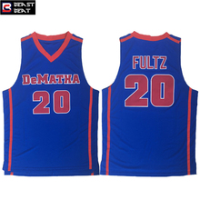 Markelle Fultz #20 DeMATHA High School Basketball Blue Men's Student Team Beast Beat Breathable Throwback Jerseys(China)