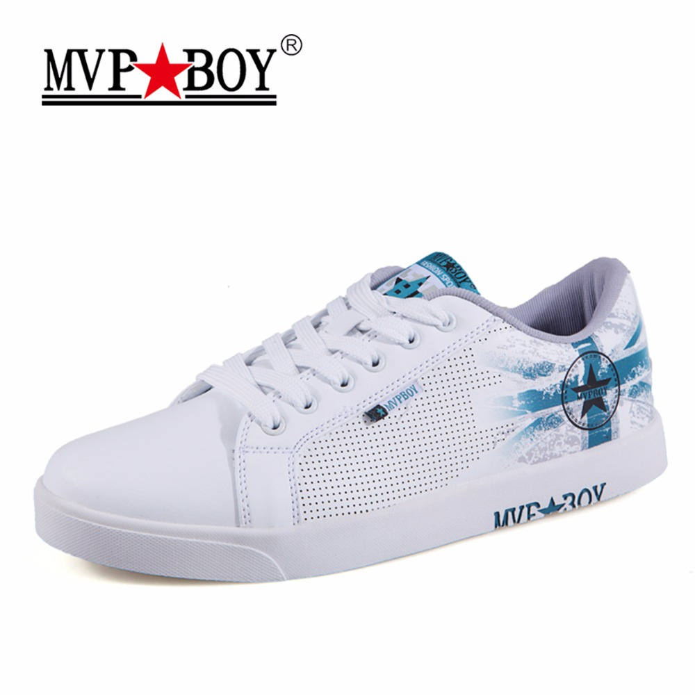 MVP BOY Brand Shoes Men 2017 Autumn Casual Sneaker Male Simple Fashion Personality British Style Leather Men Casual Shoes White<br>