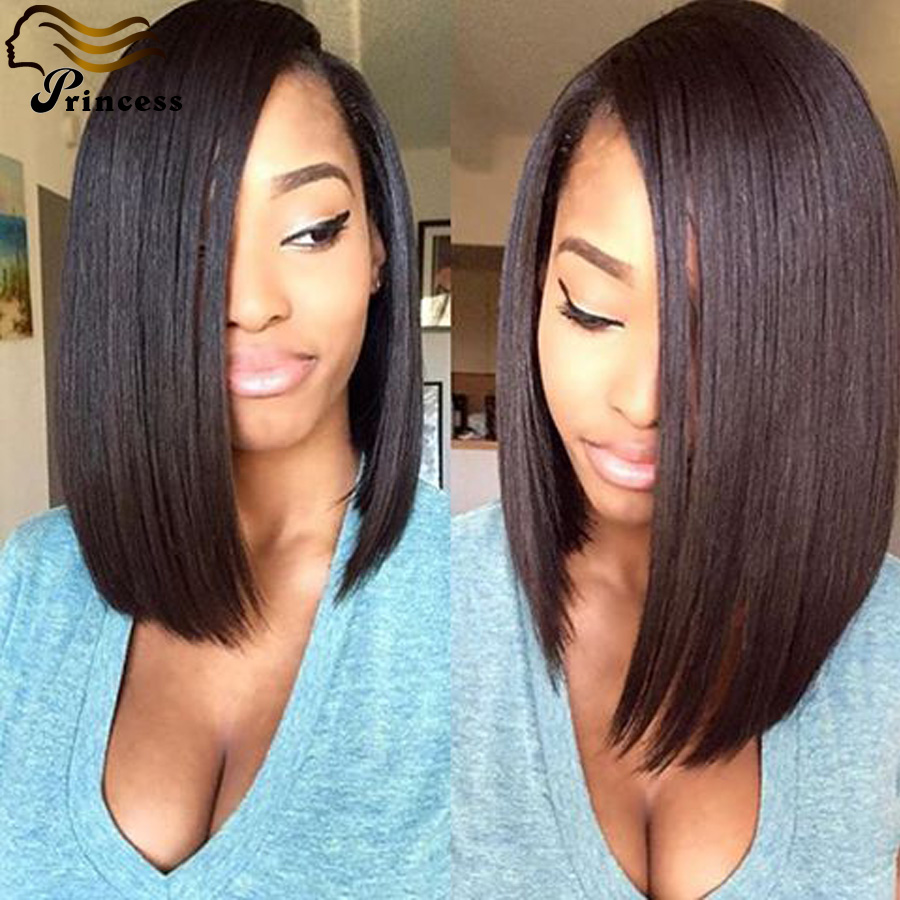 Best Brazilian Full Lace Human Hair Wig Short Virgin Human Hair Lace Front Wigs For Black Women Straight Glueless Full Lace Wigs<br><br>Aliexpress