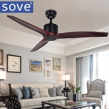 52 Inch Village Ceiling Fan With Remote Control Attic Without Light Fan Decoration Home Fan 220v Ventilador De Techo
