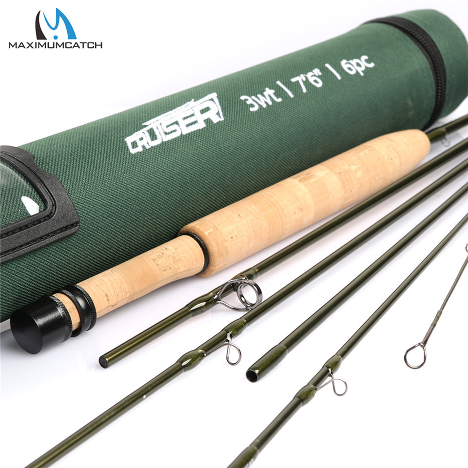Travel Fly Fishing Rod 7-8ft 2//3//4WT 6Piece Ultralight Fly Rod with Rod Tube