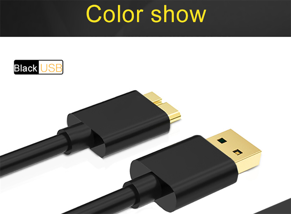 QGEEM 1M USB 3.0 Type A to Micro B Extension Cable For External Hard Drive Disk HDD Samsung S5 Note3 USB HDD Data Cable          (15)