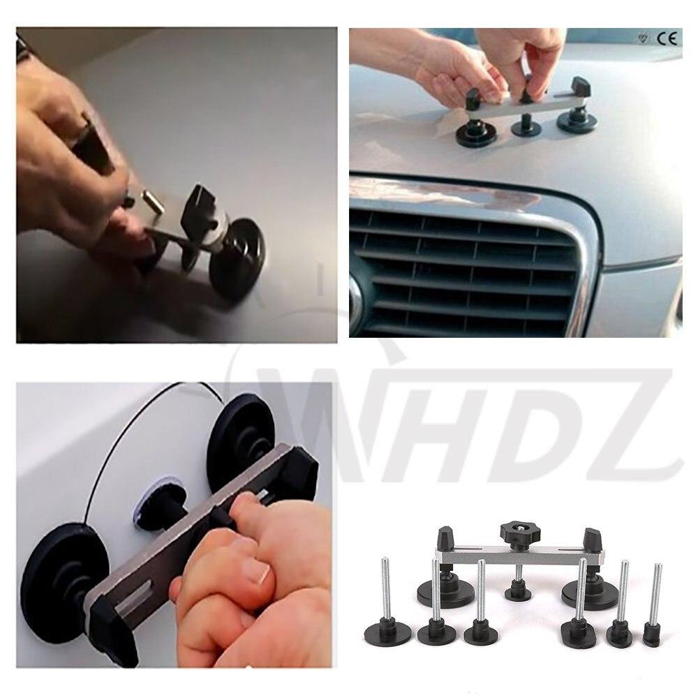 PDR Tool with Box - Sider Hammer Glue Gun Pulling Tabs Glue Sticks PDR Pro Tabs Tap Down Line Board Auto Dent Kit (68 PCS) (16)