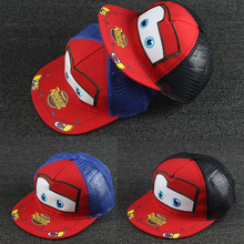 New Lovey Cartoon Car Kids Baseball Cap Boys&Girls Adjustable Flat Hat Children Snapback Hip Hop Cap