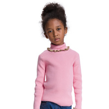 jjlkids winter girls sweater turtleneck kids knitted clothes girls pullover kids jumper solid plain kids tops warm(China)