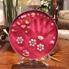 DIY New Baby Hand Foot Print Cast Figuriens Exquisite Decor Inkpad Craft for New Baby Handprint Souvenir Gift Soft Clay Craft(China)
