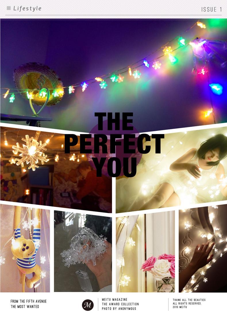 10M 100Leds 2V Christmas Tree Snow Flakes Led String Fairy Light Xmas Party Home Wedding Garden Garland Christmas Decorations 8