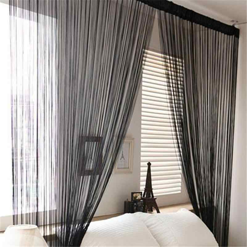 Door Windows Curtains for Living Room 200cm x 100cm Divider Yarn String Curtain Strip Tassel Drape Decor Elegant Style Curtains