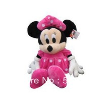Free Shipping 1 pcs Minnie Mouse Animal Plush Toys,50cm Pink Minnie Mouse Plush Toys For Children's Gifts