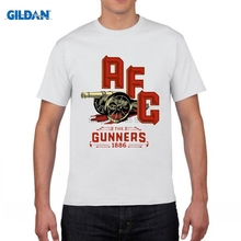 GILDAN funny men t shirt London Holloway Premier League Emirates Stadium ARS Mesut Ozil t-shirt jersey fan(China)