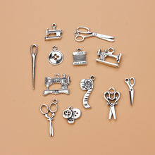 12 pcs/Multi Alloy Jewelry Antique Silver 마치 맞춤 옷을 펜 던 트 Jewelry Accessories DIY 수 제 펜 던 트(China)