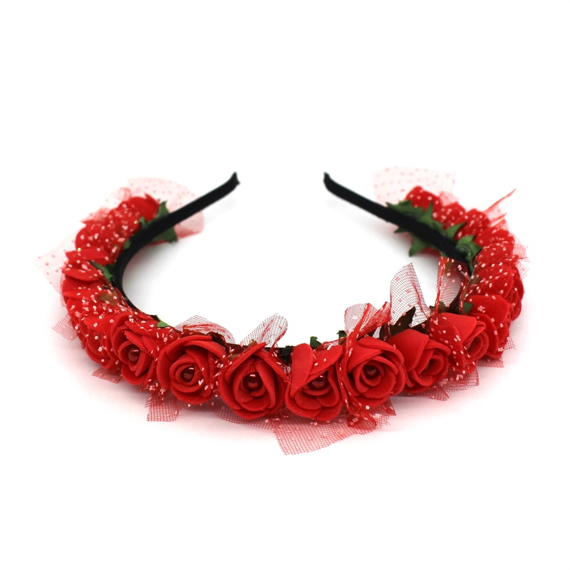 Lanxxy 17 New Fashion Pearl Flowers Hairbands for Girls Women Wedding Bridal Hair Accessories Floral Headbands 2