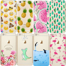 Soft TPU Silicone Transparent Clear Thin Cover For iPhone 4 4S 5S SE 5C 6 6S 7 Plus X 8 Coque Fashion Case Cases luxury