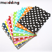 MEIDDING 25pcs/lot  Mini Polka Dot  Paper Bags Popcorn Bags  Party Food Paper Bag Wedding Birthday Party Supplies 13x18cm
