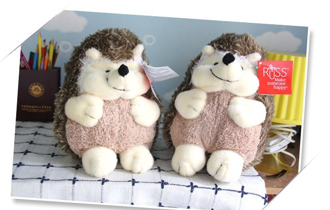stuffed animal plush 25cm cute hedgehog plush toy a pair hedgehogs dolls  w843<br><br>Aliexpress
