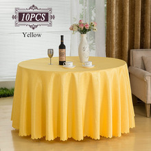 2017 New mantel mesa 100% Polyester Banquet Tablecloth Sizes for Weddings Banquet Hotel Restaurant Decorative Free Shipping 10PC